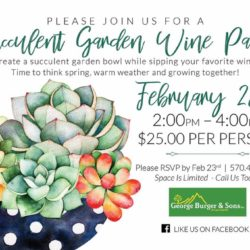 Succulent Garden Wine Party